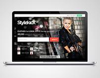 StyleKick - eCommerce Landing Page (2013)