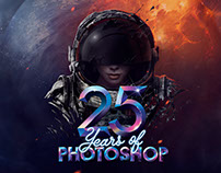 Adobe Photoshop 25th Anniversary Timeline