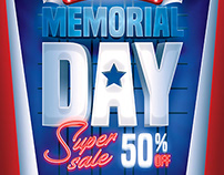 Memorial Day Sale - Flyer Template