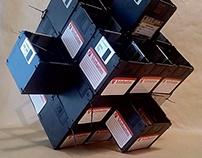 floppy disk sculpture