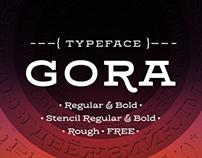 Gora | typeface