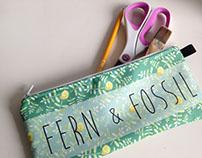 Textile Design: Fern & Fossil