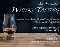 Whisky Tasting 2016.  Event Poster