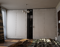 Sliding door wardrobe Unreal Engine 4