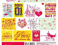 Paris city graphic design vector art