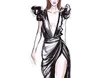 Runway Fashion Illustrations