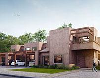 Housing complex rendering