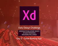 ADOBE XD Daily Challenge - Movie Ticket Booking