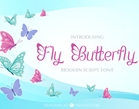 Fly Butterfly Font