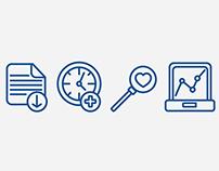 E-health icons