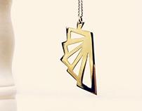 Fretwork jewellery pendant