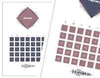2017 Calendar I Graphic design