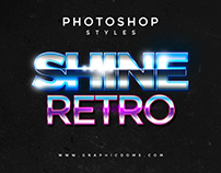 80s Photoshop Text Styles