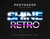 80s Photoshop Text Styles