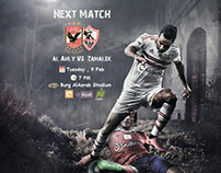 Match Card (Al Ahly VS Zamalek) Egyptian Premier League