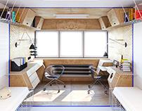 Dormitory room concept