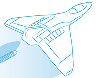 Line work for toy plane flyer