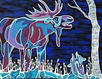 Winter Moose