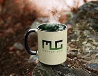 Free Vintage Coffee Mug Mockup PSD