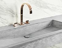 Concrete washbasin / Slant 05
