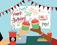 QC Birthday Card II