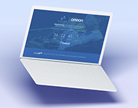 Landing and Logo OMRON Connect Hour