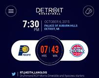 Detroit Pistons UI redesign