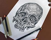 UNMASKED, graphite pencil