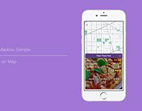 Restaurant On Map - FramerJS Sample
