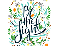 Be the light - Lettering