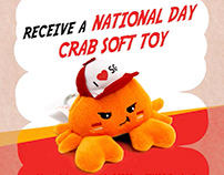 Jumbo Crab Plush Designs
