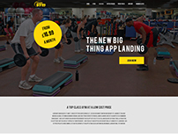 Physical Fitness Gym – Landing Page