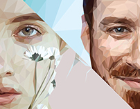 Low Poly portraits girl and boy
