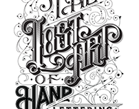 THE LOST ART OF HAND LETTERING - Wooden board
