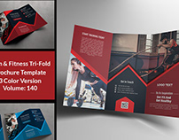 Fitness Gym Trifold Brochure