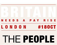 London Demonstration Britain Needs A Pay Rise