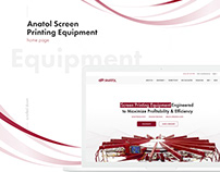 Anatol Equipment website redesign, homepage concept
