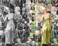 Happy New Year! Retouched and Colorized Photo.