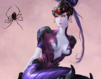 Widowmaker: Brom & Overwatch Double Fanart