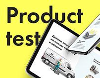 Product Test by Rezart Agency