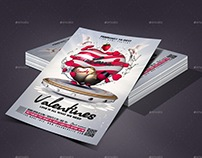 Candy Valentines Party Flyer