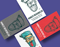 Honest Review Concept: Business Card Design