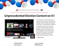 X1 Election Central Infographic / Comcast