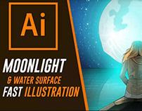Moonlight | Fast Illustration Video