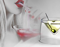 Glass design - Martini and liquor glass