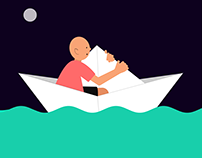 #Motion Graphics #Boy And Boat