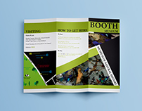 Tri-fold leaflet design for Booth Museum