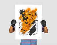 Silkscreen x Spray - Orange