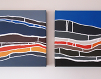 'Sediment' Diptych Painting - SOLD