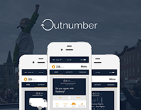 Outnumber (Concept Design Wireframes) 2014